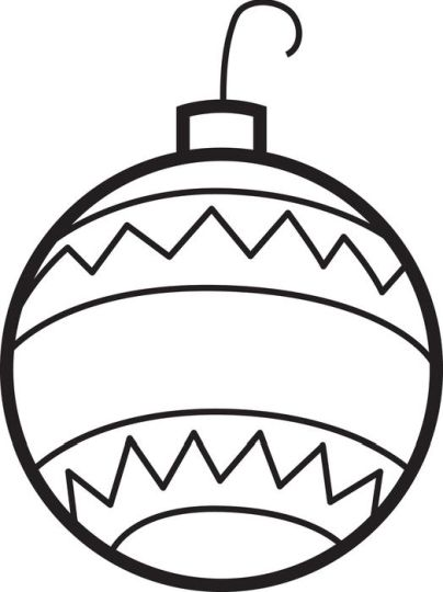 Christmas Ornament Coloring Pages 28