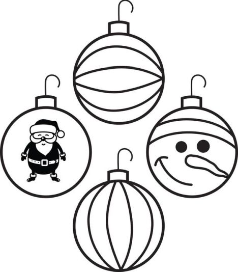 Christmas Ornament Coloring Pages 30