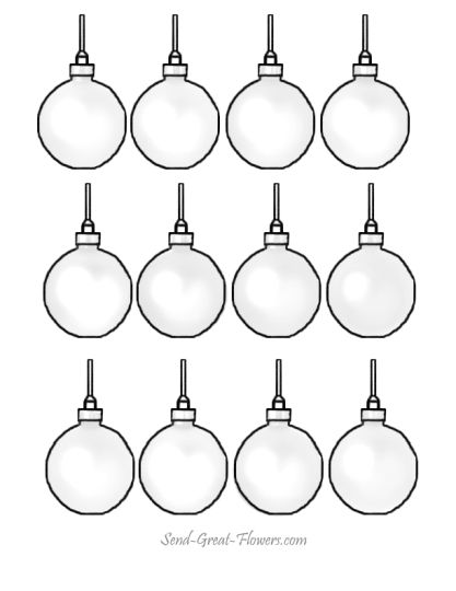 Christmas Ornament Coloring Pages 32