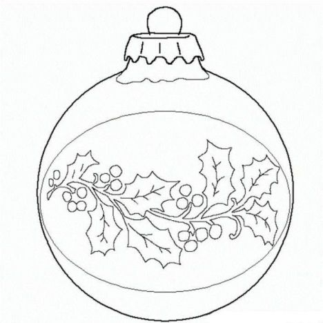 Christmas Ornament Coloring Pages 34