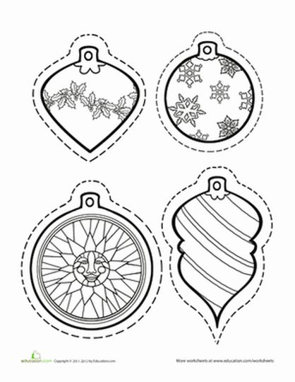 Christmas Ornament Coloring Pages 36