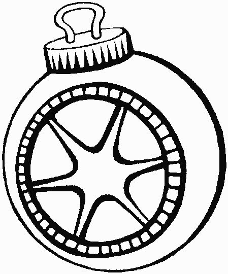 Christmas Ornament Coloring Pages 37