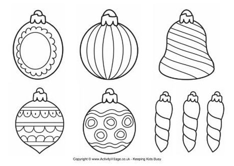 Christmas Ornament Coloring Pages 38