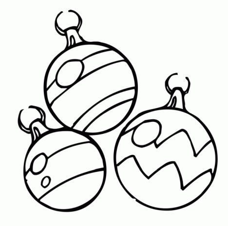 Christmas Ornament Coloring Pages 4