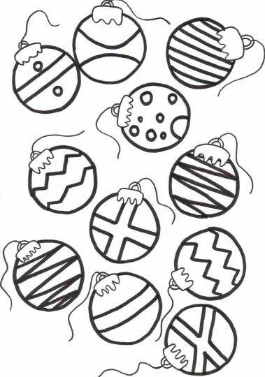 Christmas Ornament Coloring Pages 43