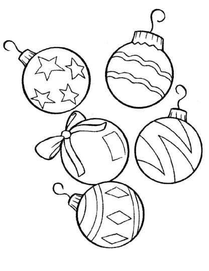 Christmas Ornament Coloring Pages 45