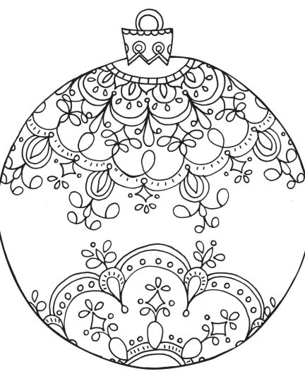 Christmas Ornament Coloring Pages 5
