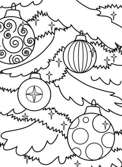 Christmas Ornament Coloring Pages 51