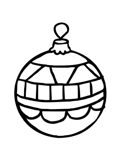 Christmas Ornament Coloring Pages 52