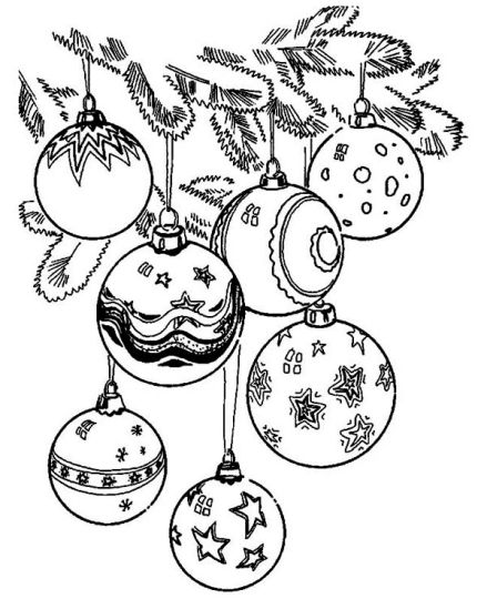 christmas ornament coloring pages part 6. Black Bedroom Furniture Sets. Home Design Ideas