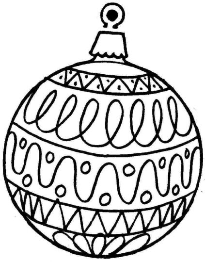Christmas Ornament Coloring Pages 55