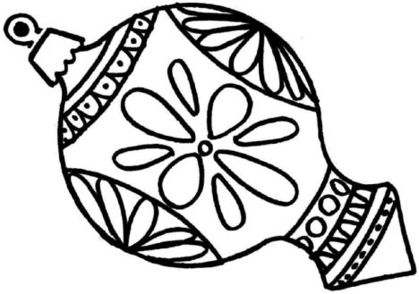 Christmas Ornament Coloring Pages 56