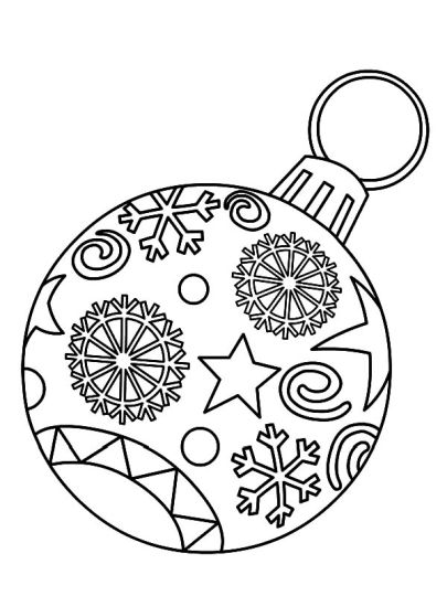 Christmas Ornament Coloring Pages part 6