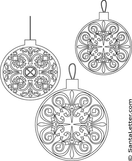 Christmas Ornament Coloring Pages 59
