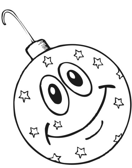 Christmas Ornament Coloring Pages 6