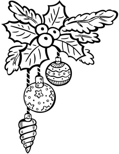 Christmas Ornament Coloring Pages 61