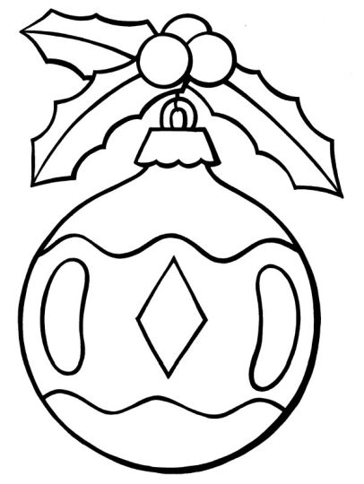 Christmas Ornament Coloring Pages 63