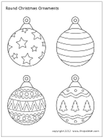 Christmas Ornament Coloring Pages Part 7
