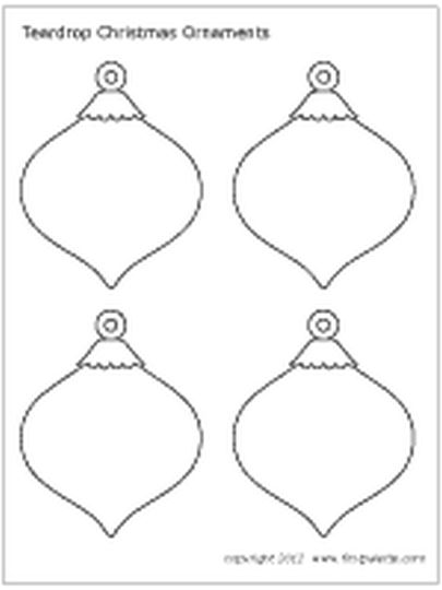 Christmas Ornament Coloring Pages 65