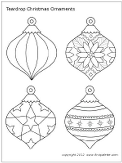 Christmas Ornament Coloring Pages 66
