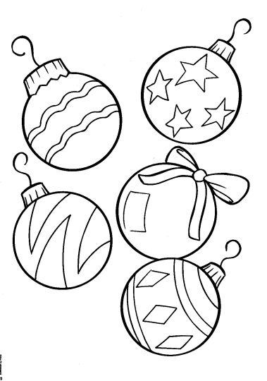 Christmas Ornament Coloring Pages 67