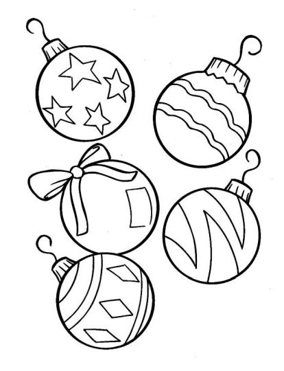 Christmas Ornament Coloring Pages 7