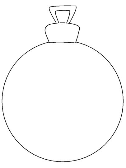 Christmas Ornament Coloring Pages 9