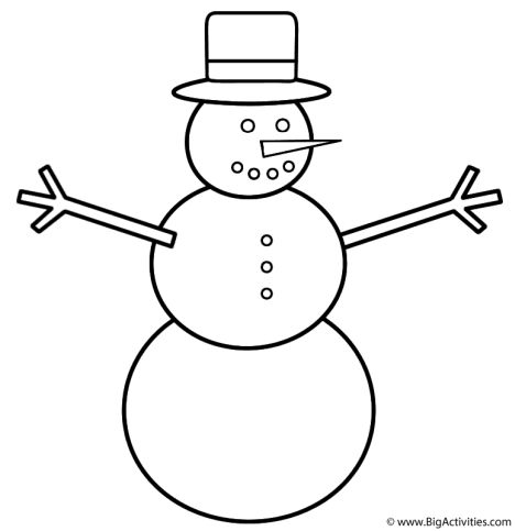 Christmas Snowman Coloring Pages 1