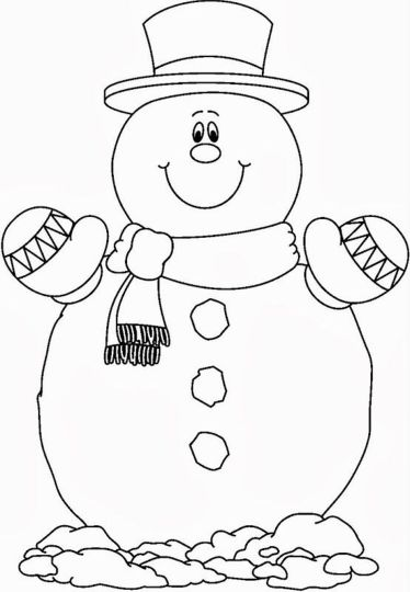 Christmas Snowman Coloring Pages 11