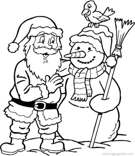 Christmas Snowman Coloring Pages 12