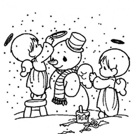 Christmas Snowman Coloring Pages 15