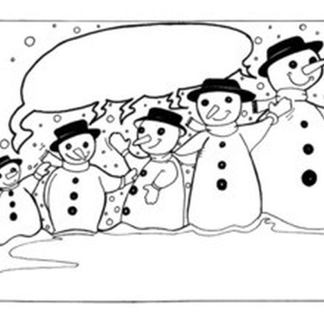 Christmas Snowman Coloring Pages 18