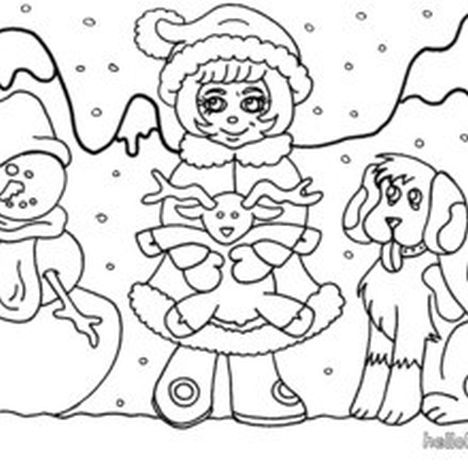 Christmas Snowman Coloring Pages 19
