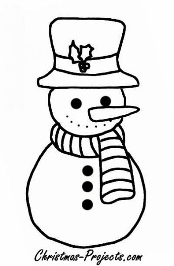 Christmas Snowman Coloring Pages 2