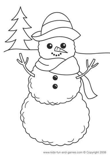 Christmas Snowman Coloring Pages 20