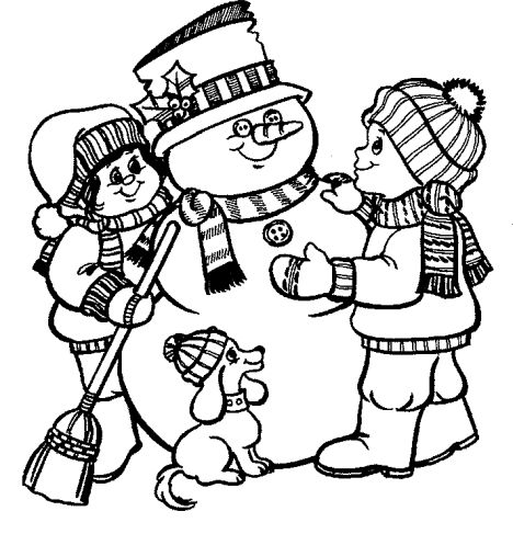 Christmas Snowman Coloring Pages 24