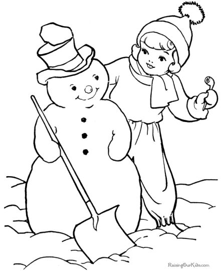 Christmas Snowman Coloring Pages 25