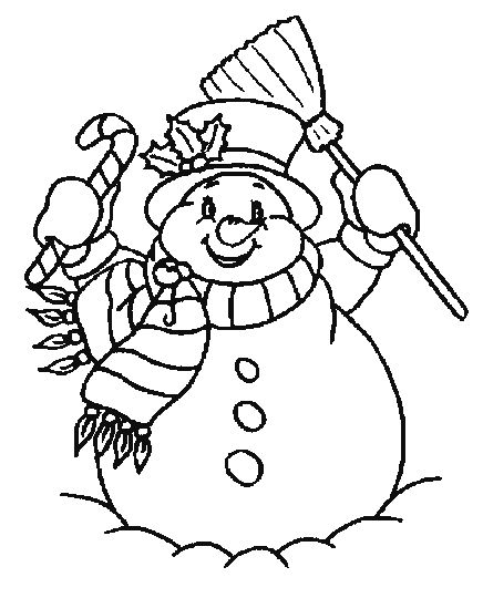 Christmas Snowman Coloring Pages 26