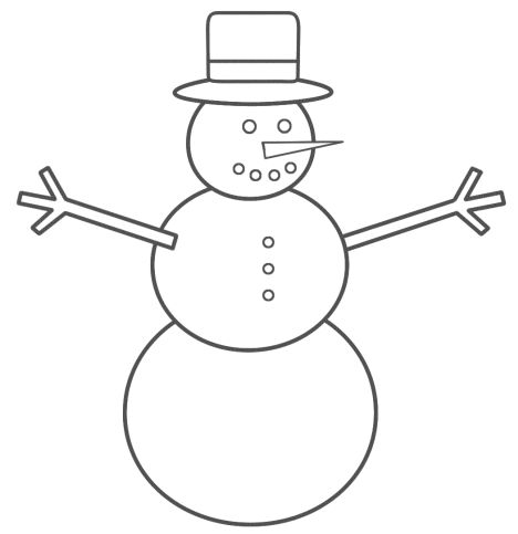Christmas Snowman Coloring Pages 28