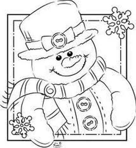 Christmas Snowman Coloring Pages 29