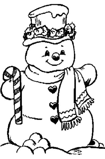Christmas Snowman Coloring Pages 30