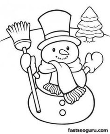 Christmas Snowman Coloring Pages part 4