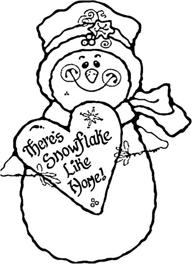 Christmas Snowman Coloring Pages 32