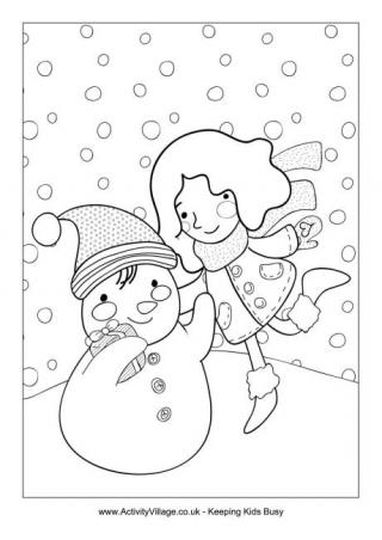 Christmas Snowman Coloring Pages 33