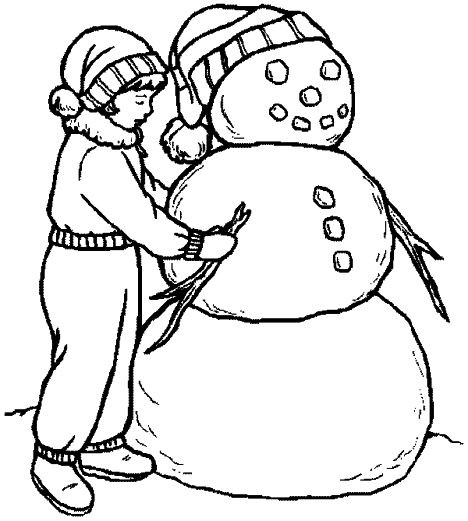 Christmas Snowman Coloring Pages 34
