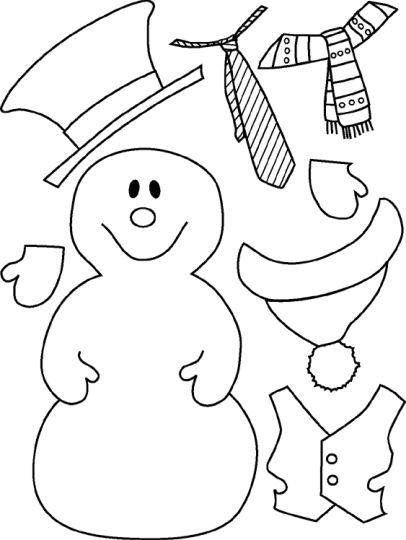 Christmas Snowman Coloring Pages 35