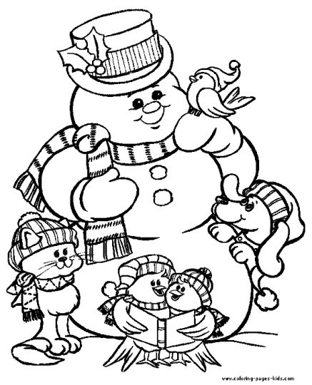 Christmas Snowman Coloring Pages 37