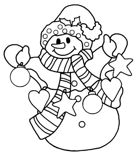 Christmas Snowman Coloring Pages 38