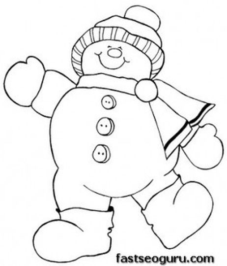 Christmas Snowman Coloring Pages 39