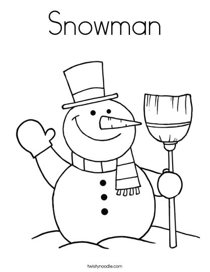 Christmas Snowman Coloring Pages 4